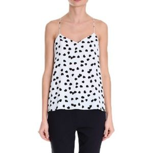 Tibi Scattered Hearts Cami - size 4